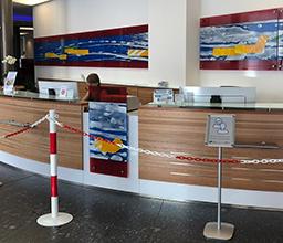 Kundenhalle Corona BKC